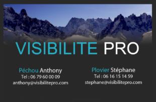 carte de visite Visibilité Pro Chamonix